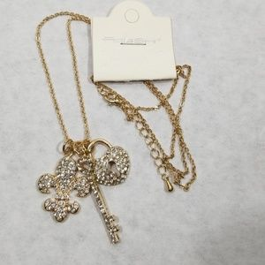 fresh Jewelry - Fresh Fleur de Los Key & Locket Crystal Necklace